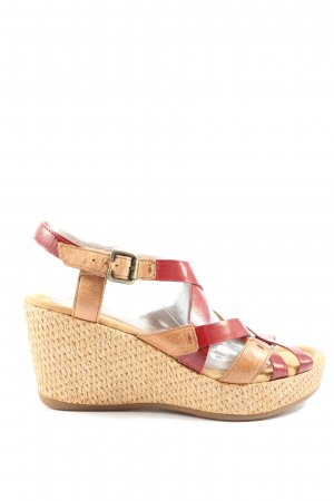 Gabor Wedges Sandaletten creme-rot Casual-Look