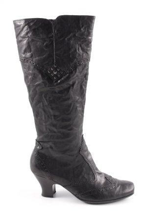Gabor Botas estilo vaquero negro look casual