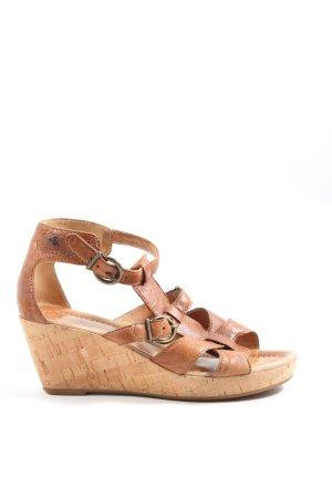 Gabor Wedges Sandaletten braun Casual-Look