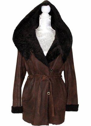 GABRIEL ANGELI Paris Giacca di pelliccia marrone scuro Pelliccia