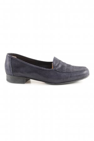 Gabriele Slipper schwarz-blau Punktemuster Business-Look