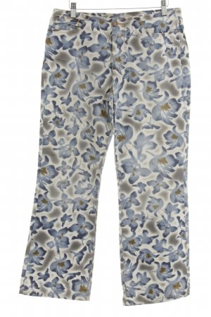 Gabriele Strehle Jeans 7/8 Jeans florales Muster extravaganter Stil