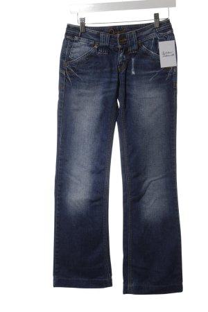 Gabriele Strehle Jeans Boot Cut Jeans blau Destroy-Optik