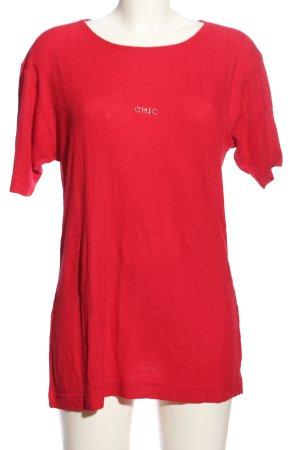Gabriella Benelli Geribd shirt rood casual uitstraling