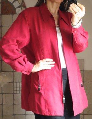 Marynarka koszulowa ciemnoczerwony-czerwony neonowy Imitacja skóra