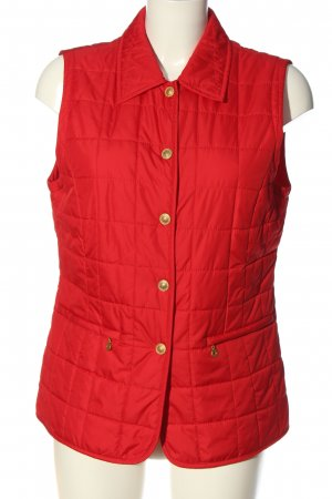 Gabriella Benelli Sports Vests red quilting pattern casual look