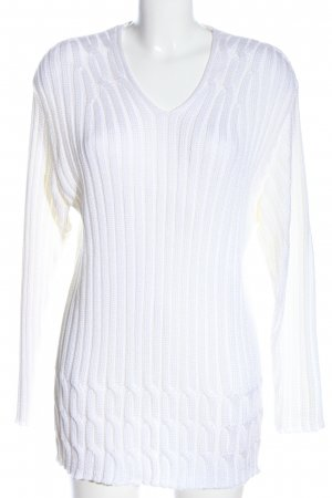 gabriella rossetti Crochet Sweater white cable stitch casual look