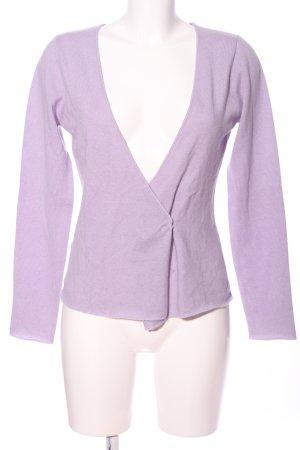Gabrini V-Ausschnitt-Pullover lila Business-Look