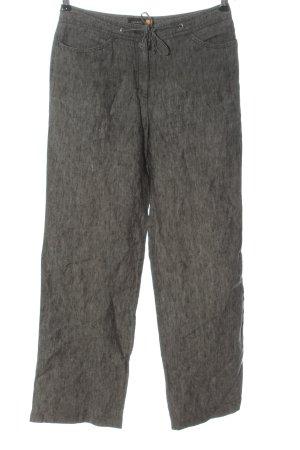 Gaby Mersmann design Pantalon en lin gris clair moucheté style décontracté