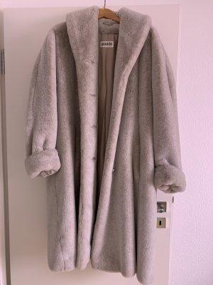 Gaddis Manteau en fausse fourrure gris clair