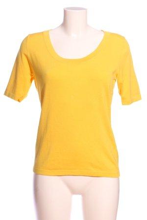 Gaddis Kurzarm-Bluse blassgelb schlichter Stil