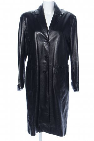 Gaddis Manteau en cuir noir style d'affaires