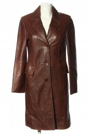 Gaddis Cappotto in pelle marrone stile professionale