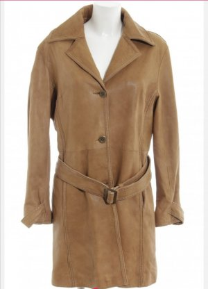 Gaddis Leather Coat cognac-coloured