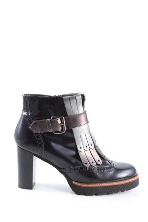 Gadea Reißverschluss-Stiefeletten schwarz Casual-Look