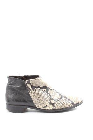 Gadea Reißverschluss-Stiefeletten schwarz-wollweiß Casual-Look