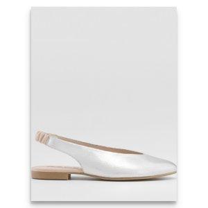 Gadea Bailarinas con punta color plata Cuero