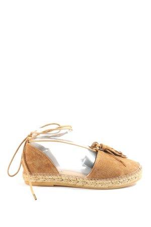Gaimo Espadrilles Espadrille sandalen bruin casual uitstraling