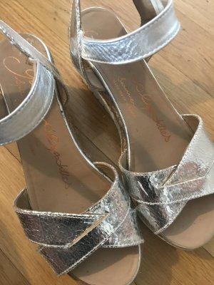 Gaimo Espandrilles * Silberne Sandalette * Hand made in Spain Gr.38