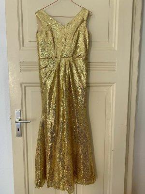Suknia balowa piaskowy brąz Tkanina z mieszanych włókien