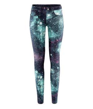GALAXY Skinny Jeans Hose 5 pocket Hose Skinny aus Twill schmale Beine niedriger Bund 32 XXS 34 NEU TRENDY