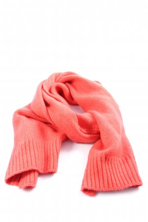 Galeries lafayette Knitted Scarf red cable stitch casual look