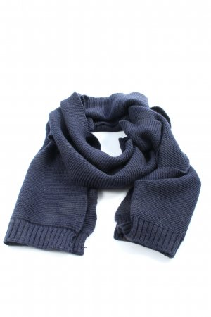 Galeries lafayette Knitted Scarf blue casual look