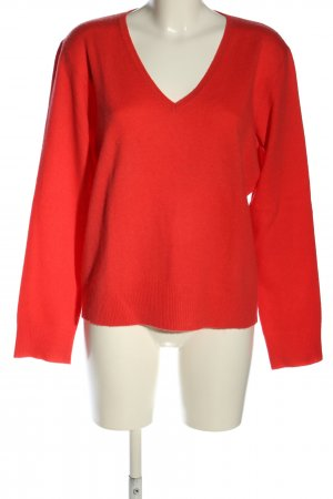 Galeries lafayette V-Ausschnitt-Pullover rot Casual-Look