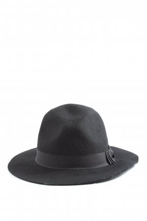 Galeries lafayette Wollen hoed zwart casual uitstraling