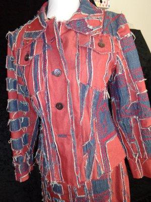 Gali-Desingerblazer rot/blauer Jeansstoff, sehr ausgefallen, Gr. M