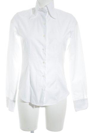 Galizia Trendy Langarmhemd weiß Business-Look
