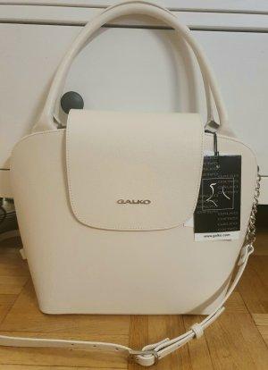 Galko Handtasche weiß Leder neu