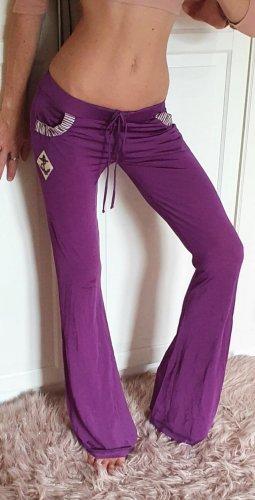 Galliano Hose schlaghose bellbottom Trackpants loungewear homewear Yoga Fitness 90er 90s