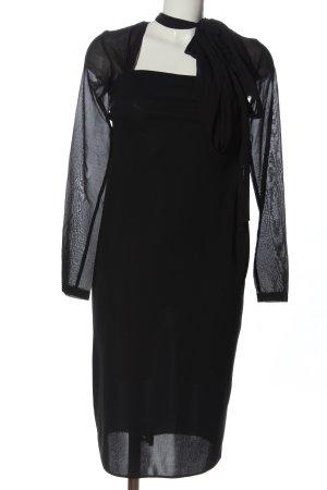 Galliano Langarmkleid schwarz klassischer Stil