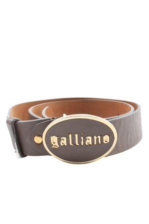 Galliano Cinturón de cuero marrón look casual