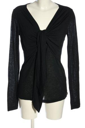 Galliano Oversized Shirt schwarz Casual-Look