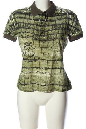Galliano Polo-Shirt Motivdruck Casual-Look