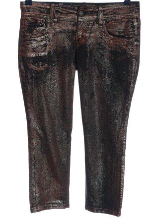 Galliano Skinny Jeans braun-schwarz Farbverlauf Casual-Look