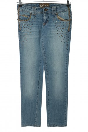 Galliano Slim Jeans blau Casual-Look