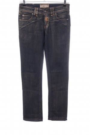 Galliano Straight-Leg Jeans blau Casual-Look