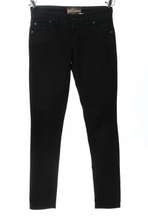 Galliano Straight-Leg Jeans schwarz Casual-Look
