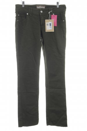 Galliano Straight-Leg Jeans olivgrün Casual-Look