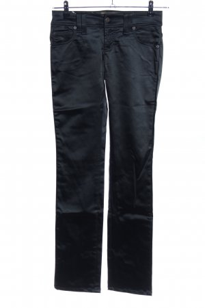 Galliano Stretchhose schwarz Casual-Look