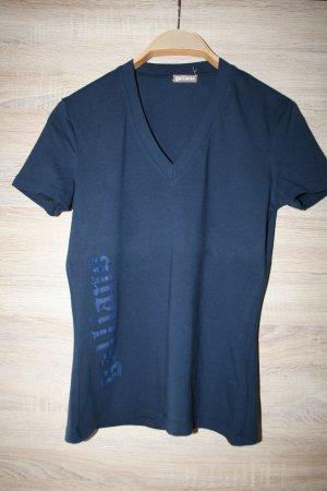 Galliano V- Ausschnitt-Shirt dunkelblau Casual-Look neu!