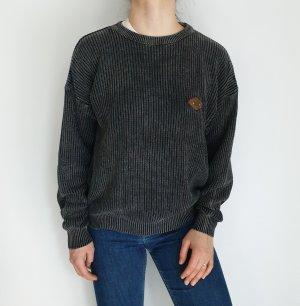 Galu Celi grau S Cardigan Strickjacke Oversize Pullover Hoodie Pulli Sweater Top True Vintage