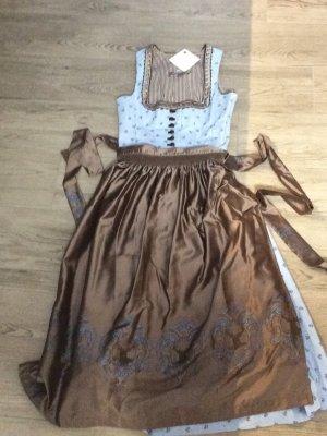Gamsbock Dirndl azzurro-marrone-grigio