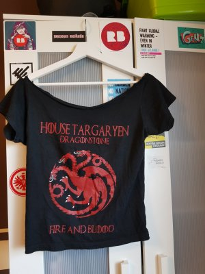 Game of Thrones Haus Targaryen T-Shirt, U-Boot Auschnitt
