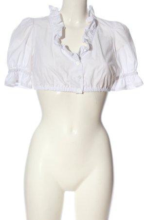 Gamsbock Chemise bavaroise blanc style décontracté