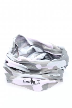 Gamsbokk Tube Scarf white-light grey allover print casual look