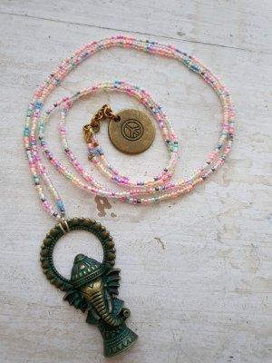 code Ibiza Collar de perlas color bronce